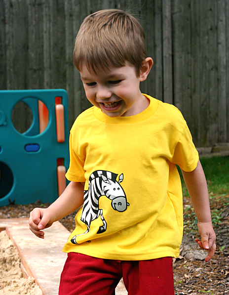 lello's kids yellow zebra tee